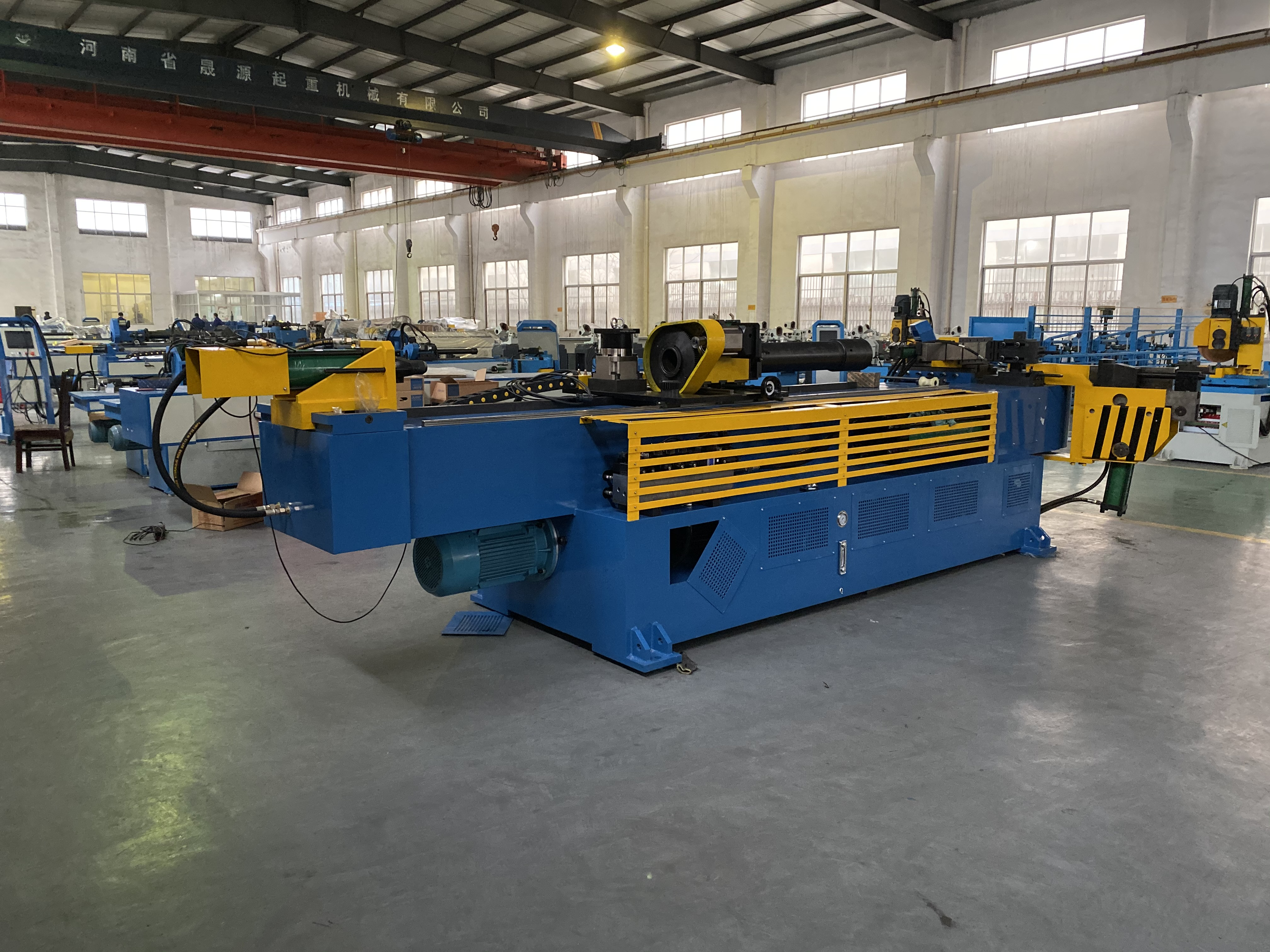 3 Axis Pipe Rolling Bending Machine GM-114CNC